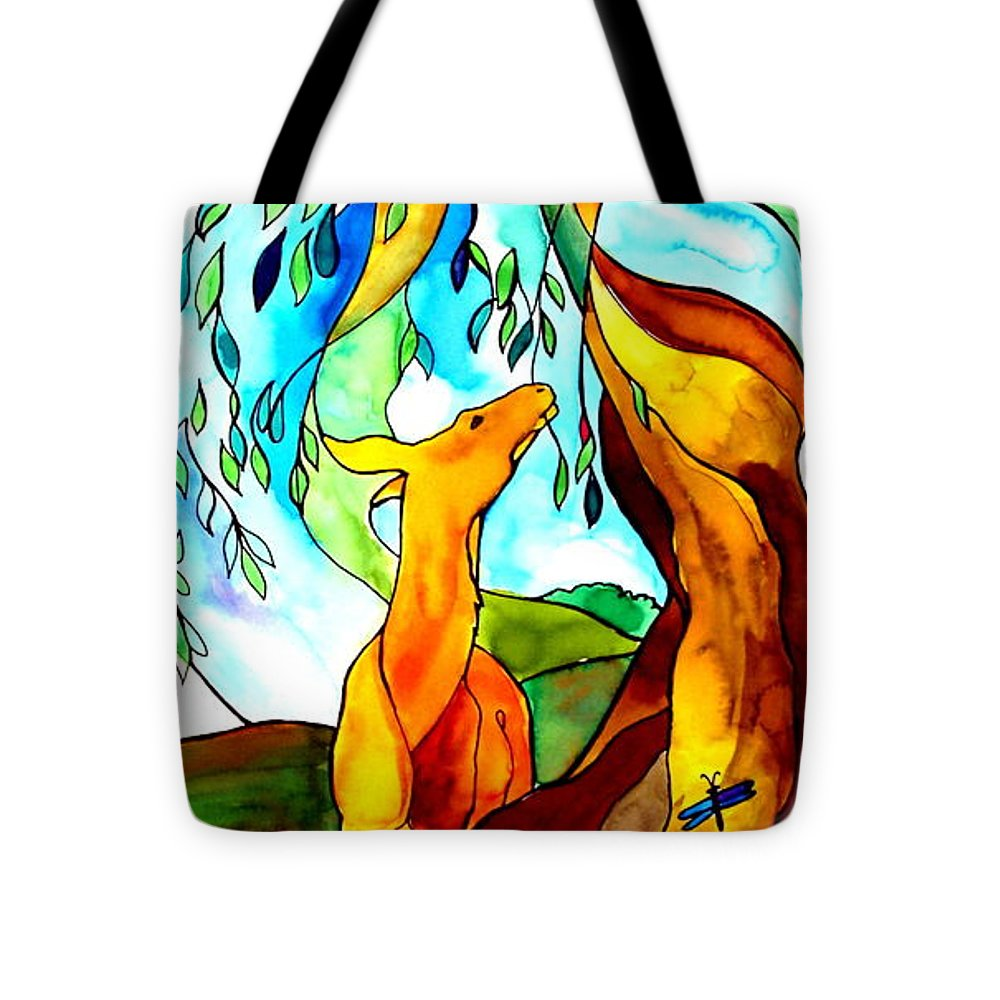 Peacock Tote Bag featuring the painting Paradise by Jill Iversen