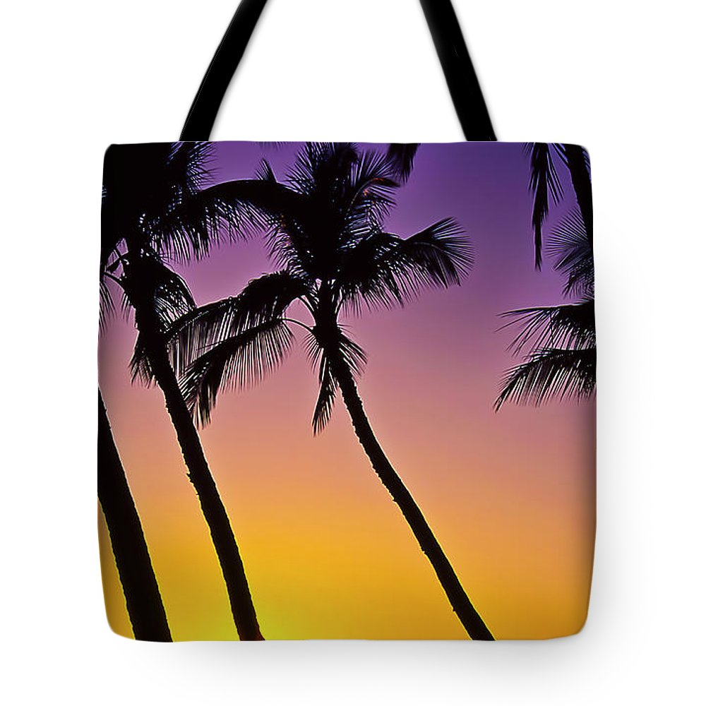 Sunset Tote Bag featuring the photograph Paradise by Jim Cazel