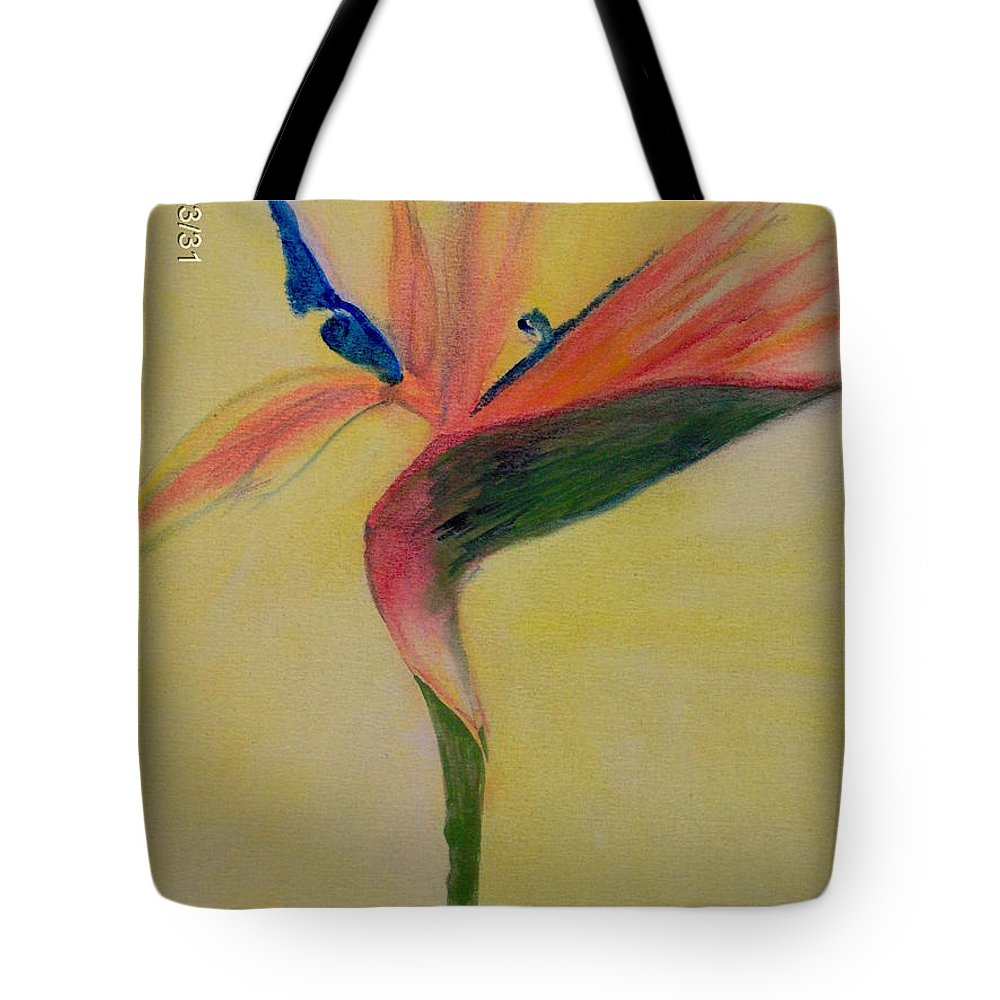 Flower Tote Bag featuring the painting Paradise by Moneca AtleyLoring