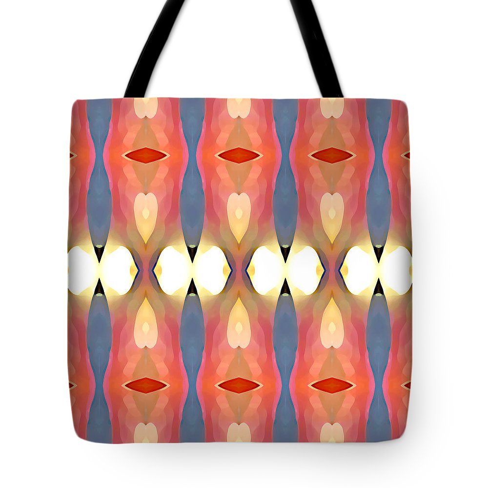 Abstract Art Tote Bag featuring the painting Paradise Repeated by Amy Vangsgard