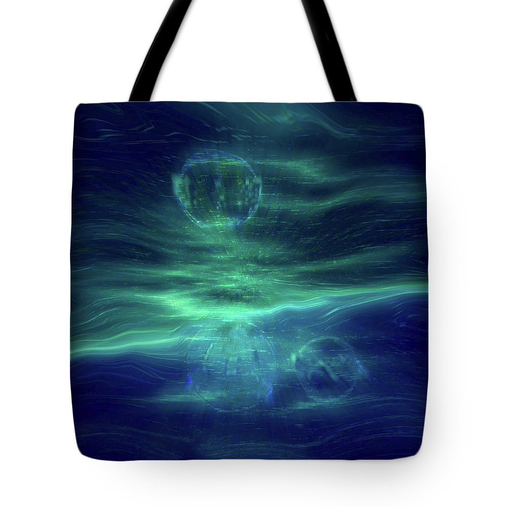 Parallel Universe Cosmos Tote Bag featuring the digital art Parallel Universe by Linda Sannuti