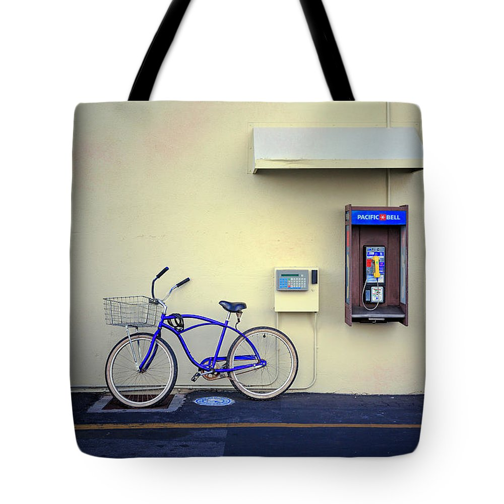 California Tote Bag featuring the photograph Paramount Backlot Bicycle by Craig J Satterlee