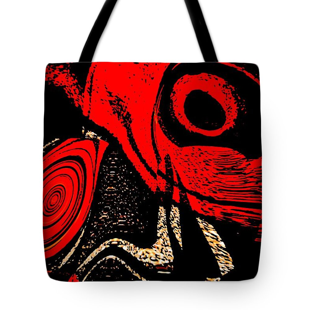 Delusion Tote Bag featuring the digital art Paranoid by Max Steinwald