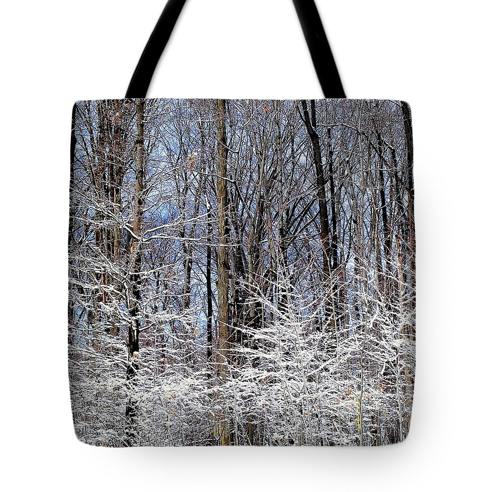 Trees Tote Bag featuring the photograph Parents With Children by Frozen in Time Fine Art Photography