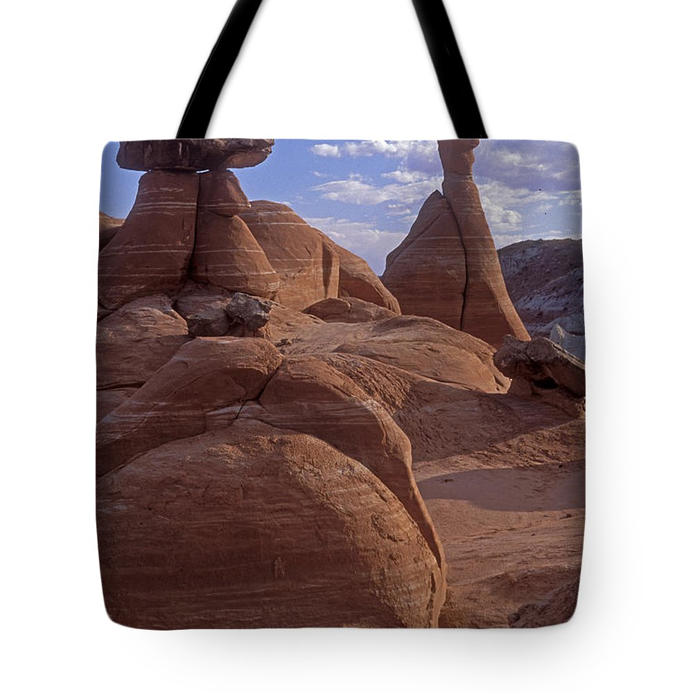 Southwest Tote Bag featuring the photograph Paria Canyon Hoodoos by Sandra Bronstein