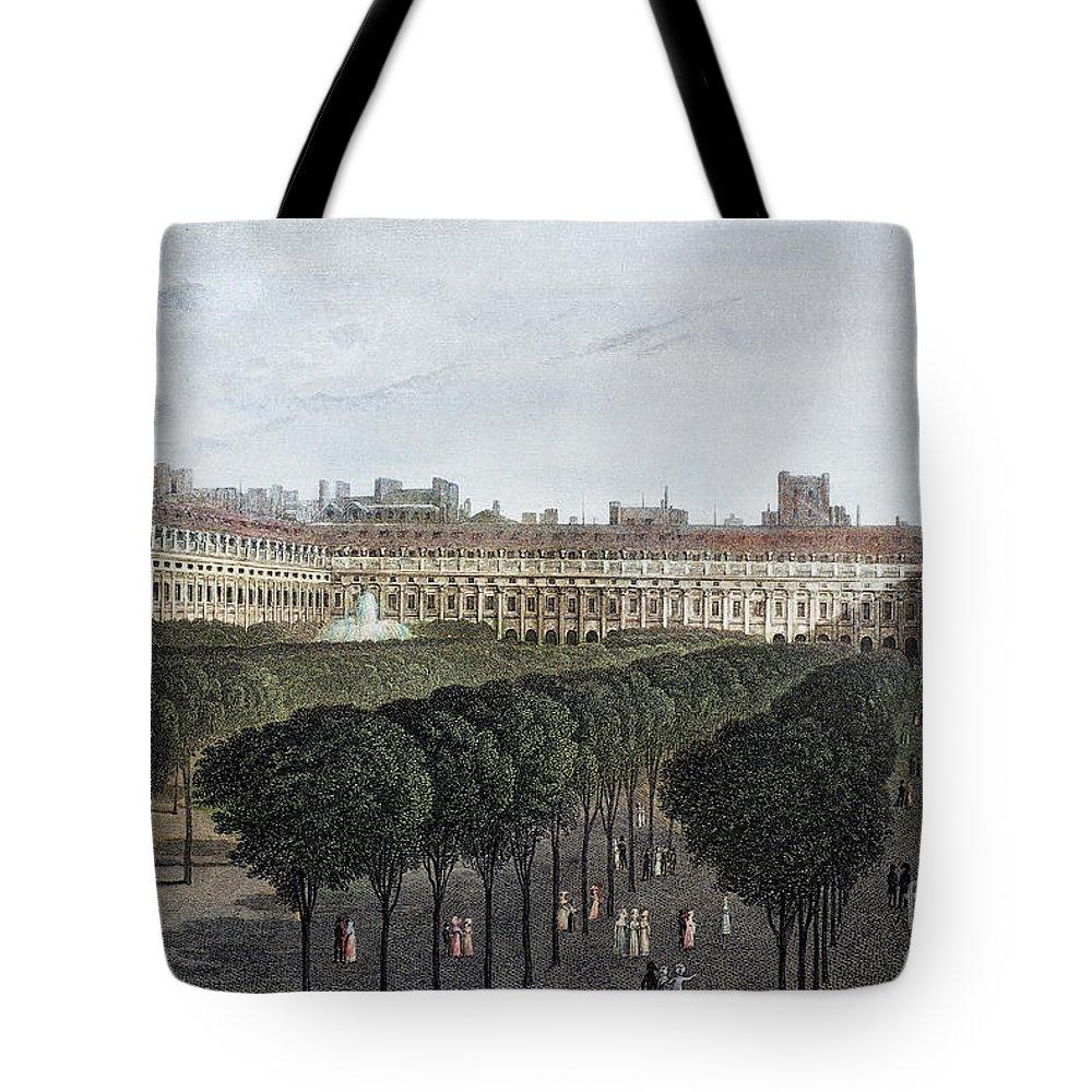 1821 Tote Bag featuring the photograph Paris: Palais Royal, 1821 by Granger