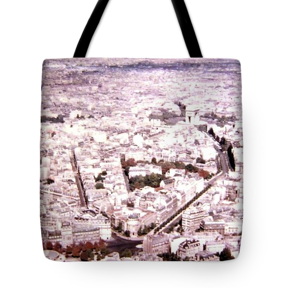 1955 Tote Bag featuring the photograph Paris Panorama 1955 by Will Borden