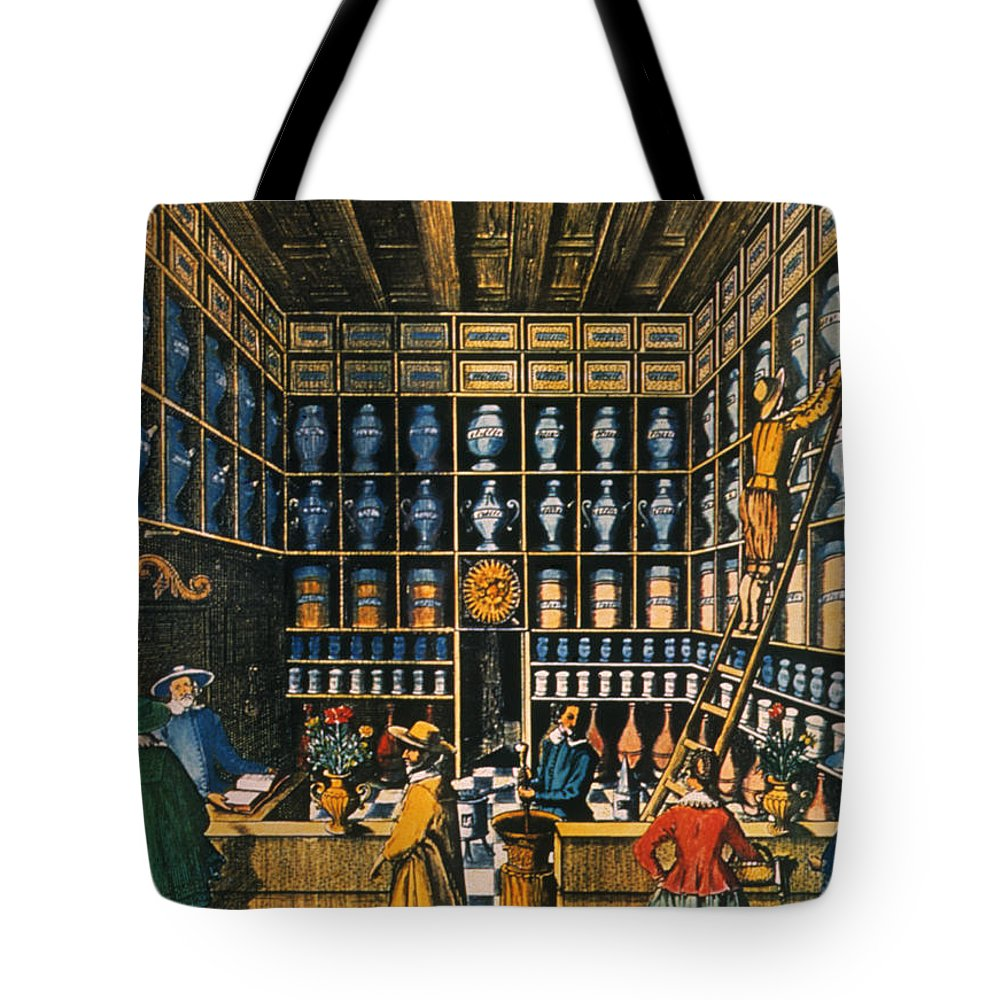 1624 Tote Bag featuring the photograph Parisian Pharmacy, 1624 by Granger
