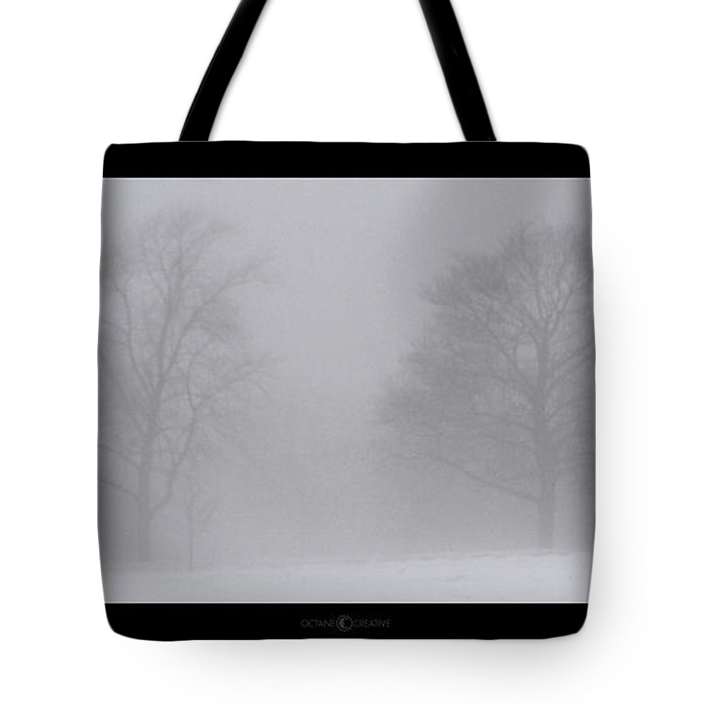 Fog Tote Bag featuring the photograph Park In Winter Fog by Tim Nyberg