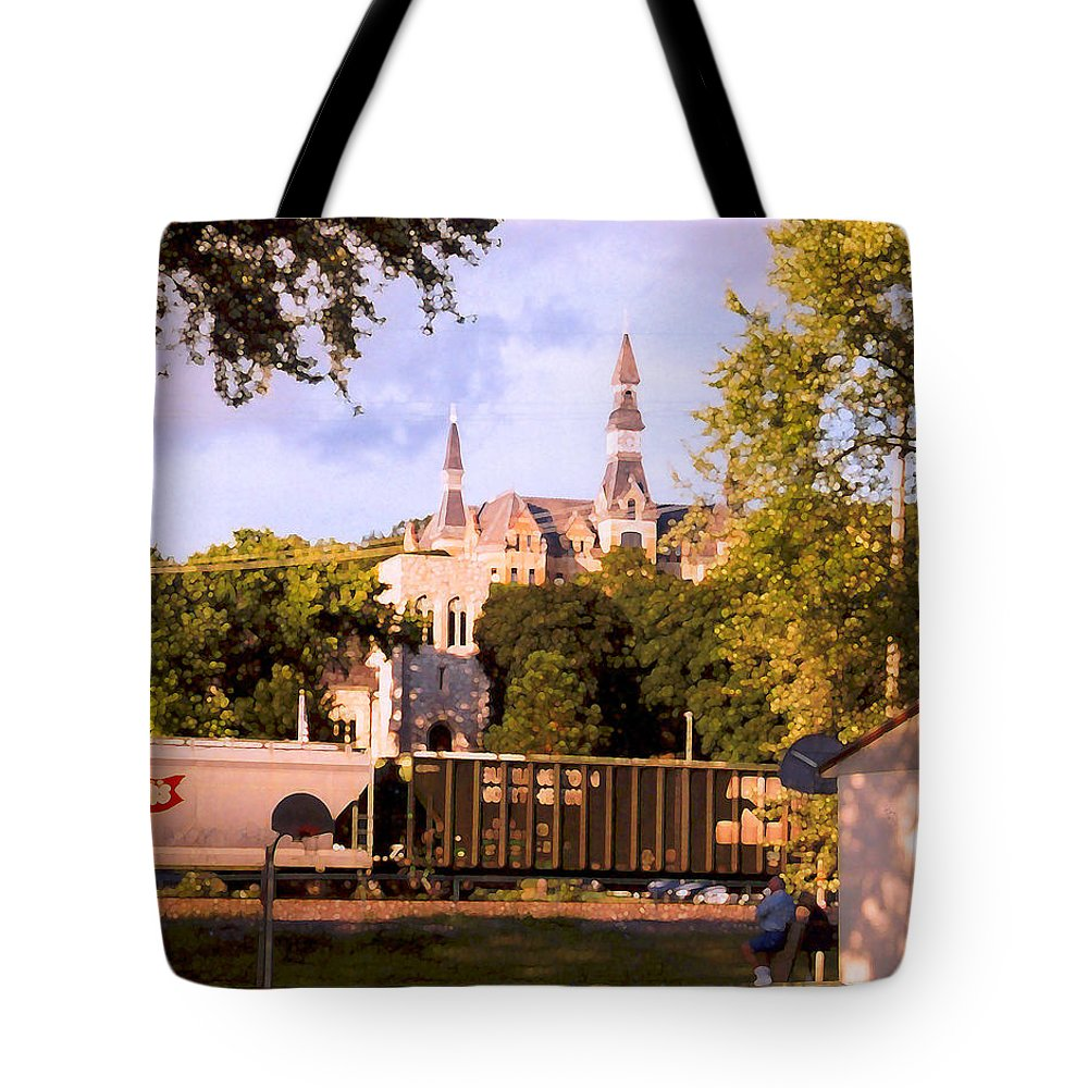 Landscape Tote Bag featuring the photograph Park University by Steve Karol
