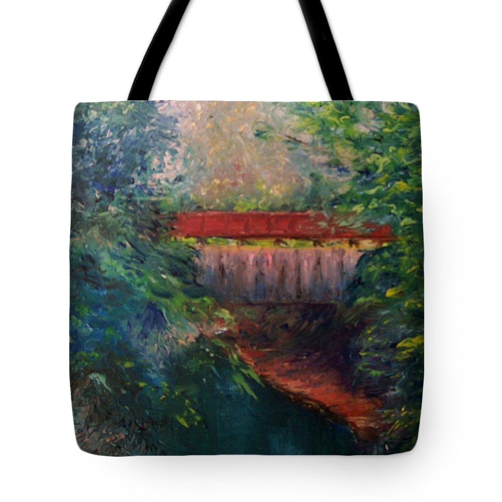 Landscape Tote Bag featuring the painting Parke County by Stephen King