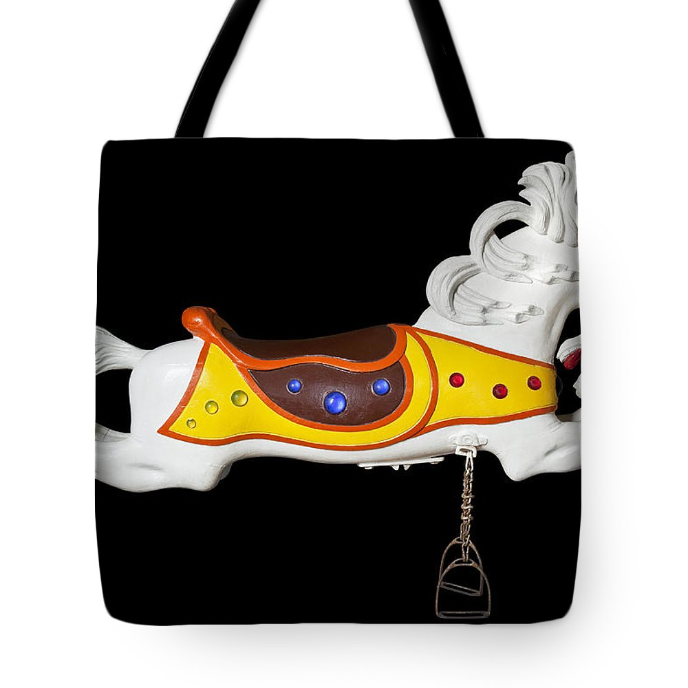 Carousel Tote Bag featuring the photograph Parker Flying Carousel Horse 2 by Kelley King