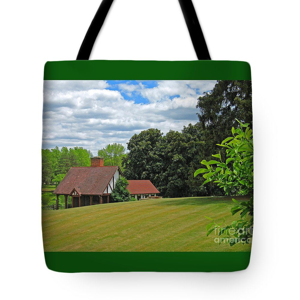 Landscape Tote Bag featuring the photograph Parkland Cottage by Ann Horn