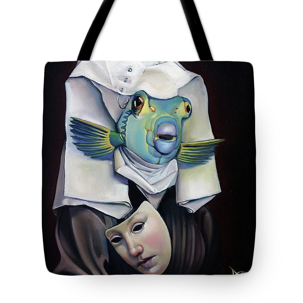 Fish Tote Bag featuring the painting Parrishfish by Patrick Anthony Pierson