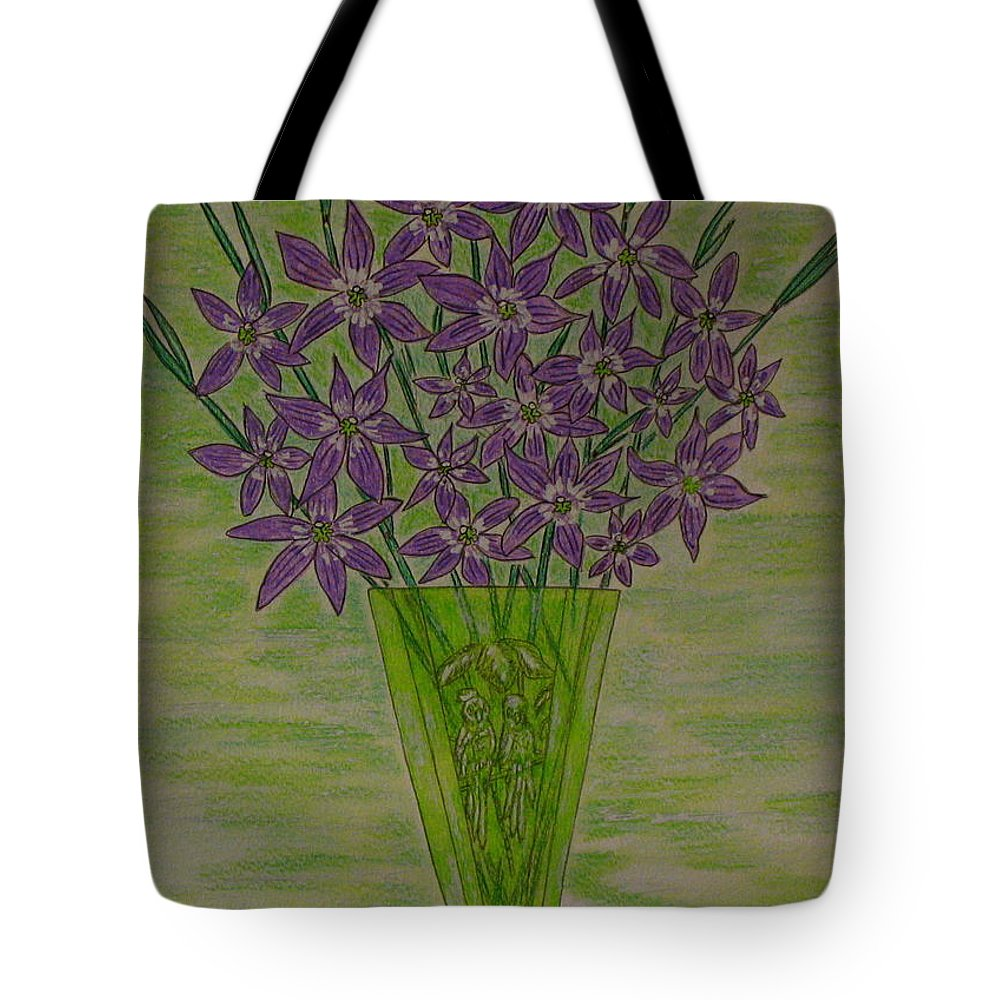 Parrott Tote Bag featuring the painting Parrot Green Depression Glass by Kathy Marrs Chandler