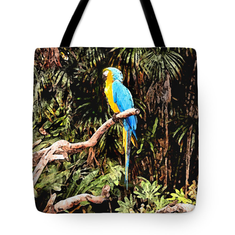 Parrot Tote Bag featuring the photograph Parrot by Steve Karol