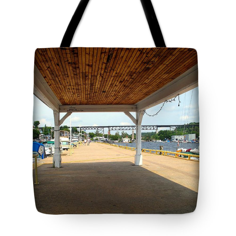 Parry Sound Tote Bag featuring the photograph Parry Sound by Ian MacDonald