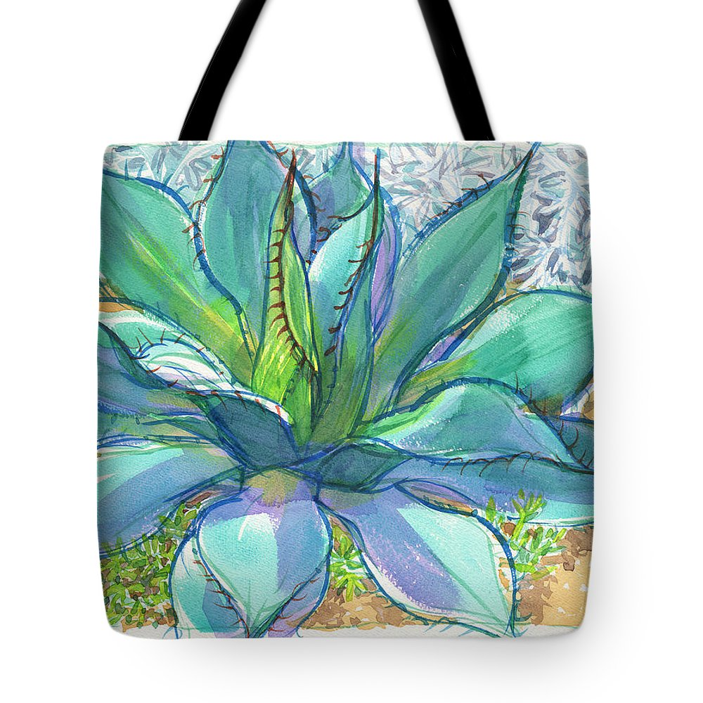 California Tote Bag featuring the painting Parrys Agave by Judith Kunzle