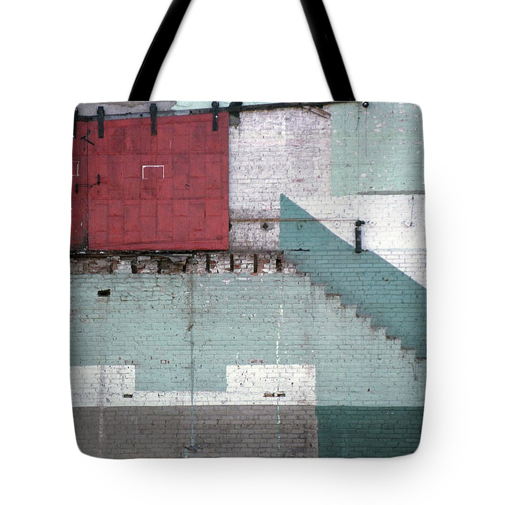 Abstract Tote Bag featuring the photograph Partial Demolition by Richard Rizzo
