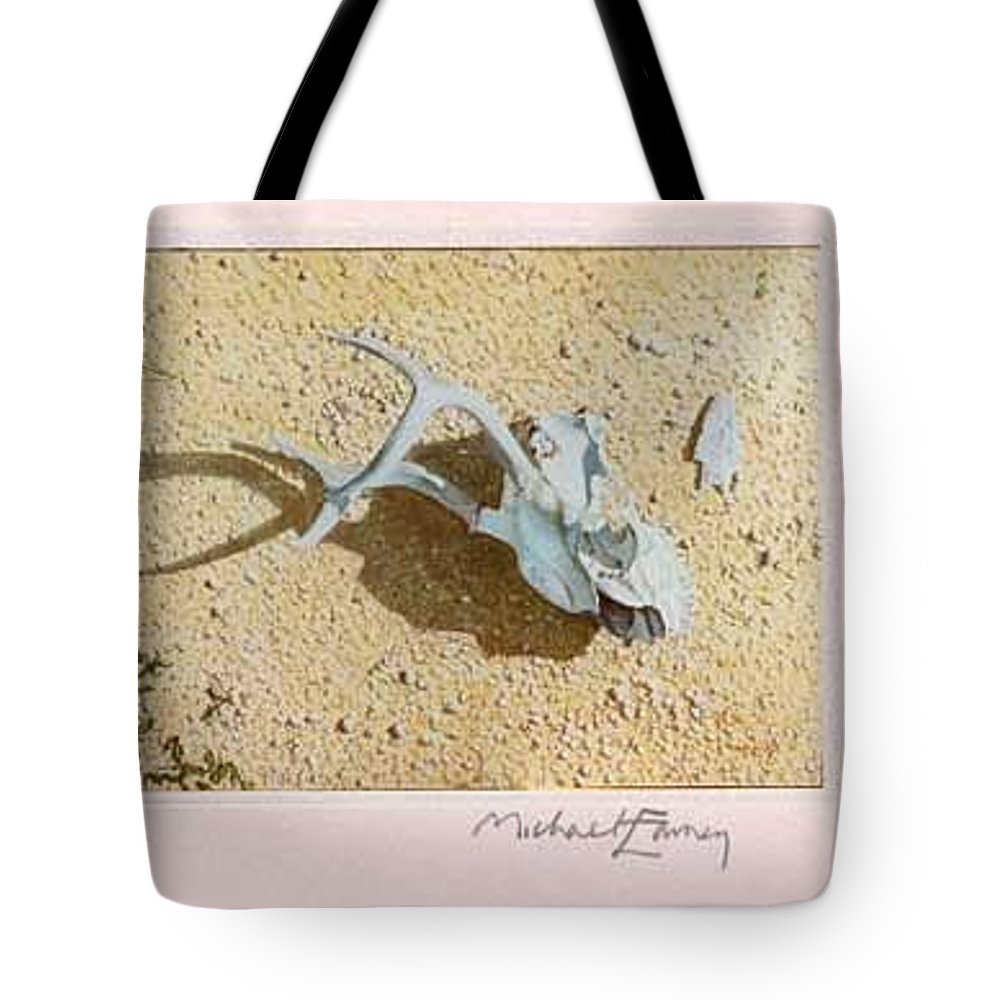 Hyperrealism Tote Bag featuring the painting Partially Buried Frog Fruit by Michael Earney