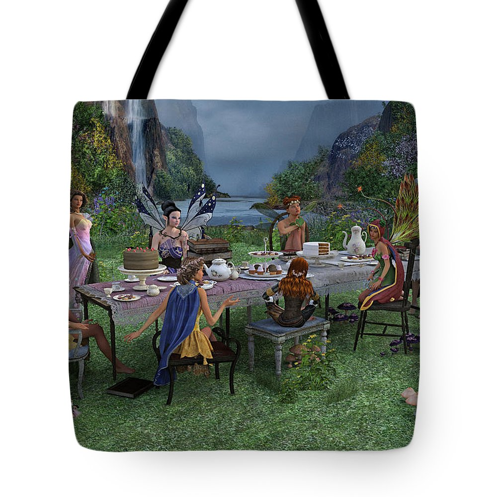 Pixie Tote Bag featuring the digital art Particularities by Betsy Knapp
