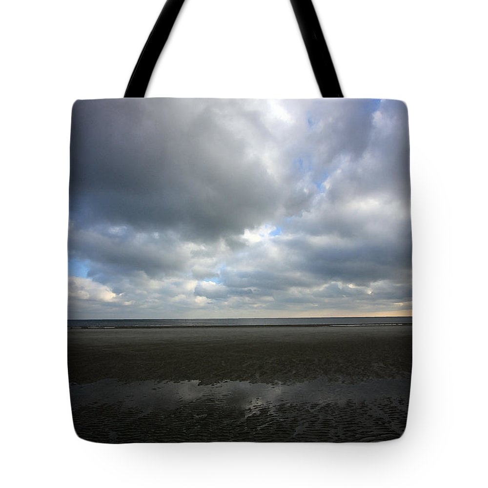 Clouds Tote Bag featuring the photograph Parting Clouds by Mary Haber