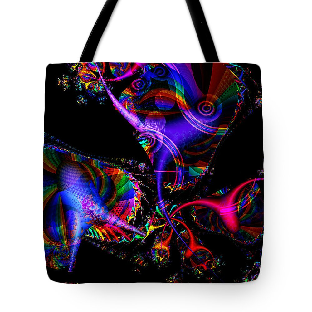 Colorful Tote Bag featuring the digital art Party All The Time by Claire Bull