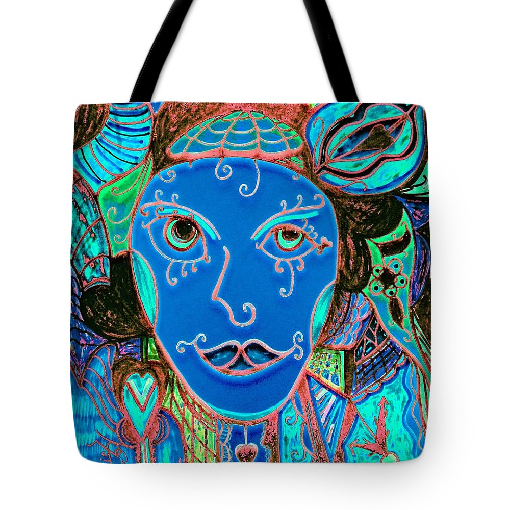 Party Girl Tote Bag featuring the painting Party Girl by Natalie Holland