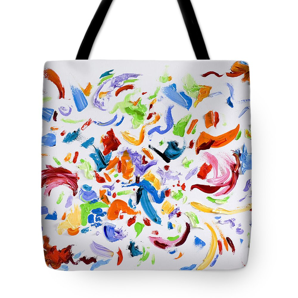 Red Tote Bag featuring the painting Party by Shannon Grissom