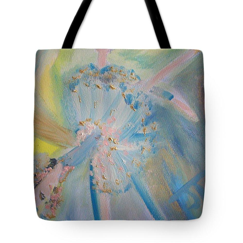 Ballet Tote Bag featuring the painting Pas De Deux by Judith Desrosiers