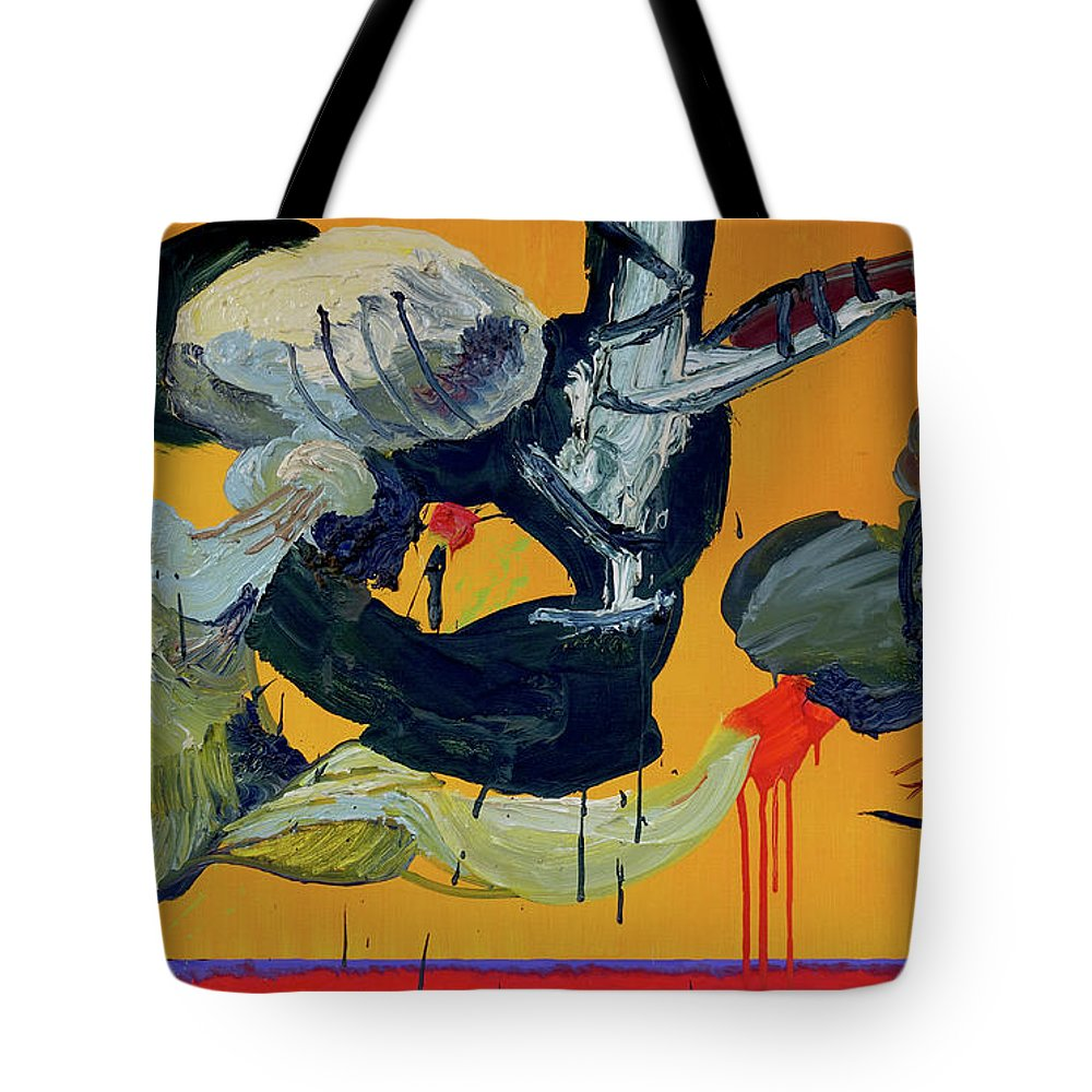 Abstract Tote Bag featuring the painting Pas De Trois by Peregrine Roskilly