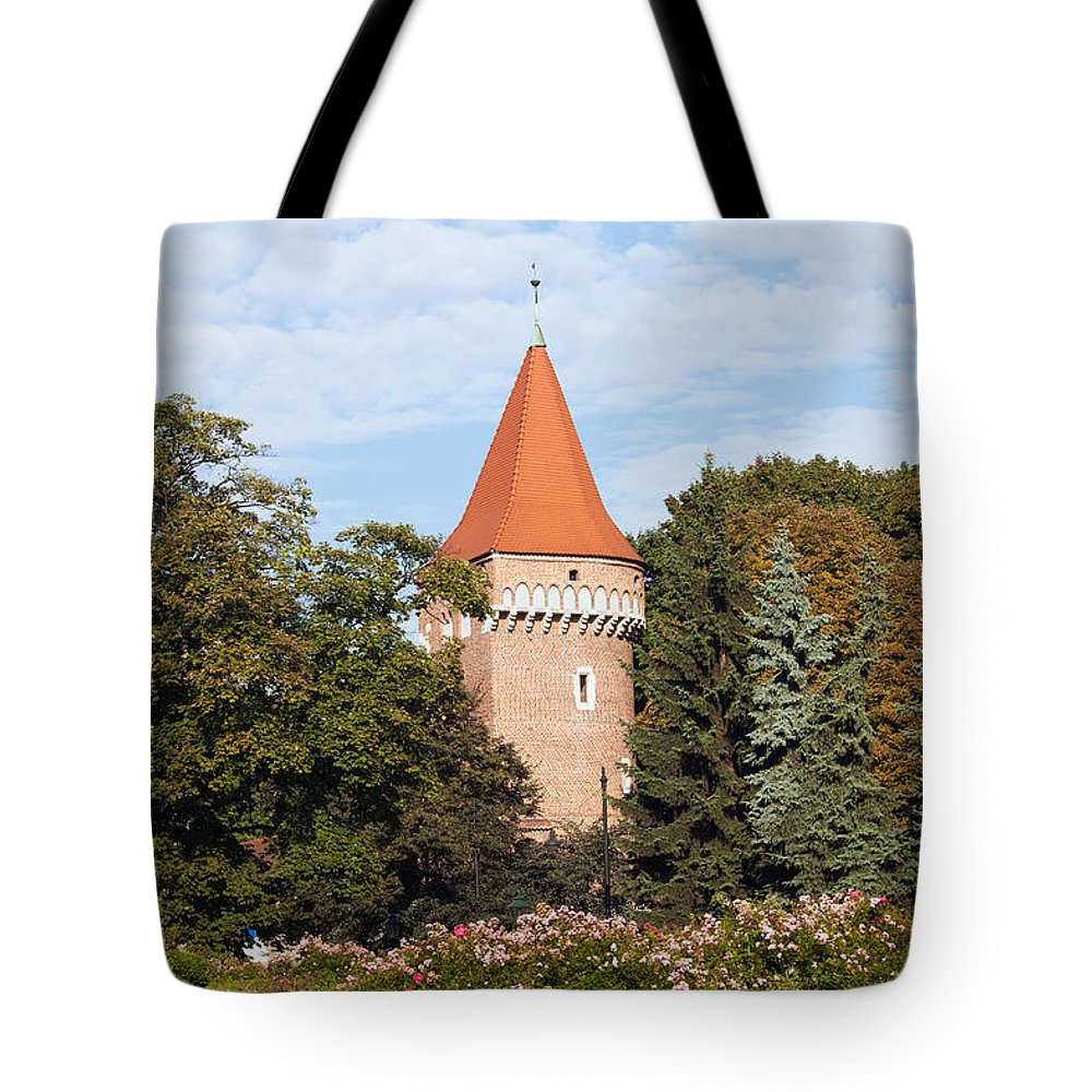 Krakow Tote Bag featuring the photograph Pasamonikow Tower And Planty Park In Krakow by Artur Bogacki