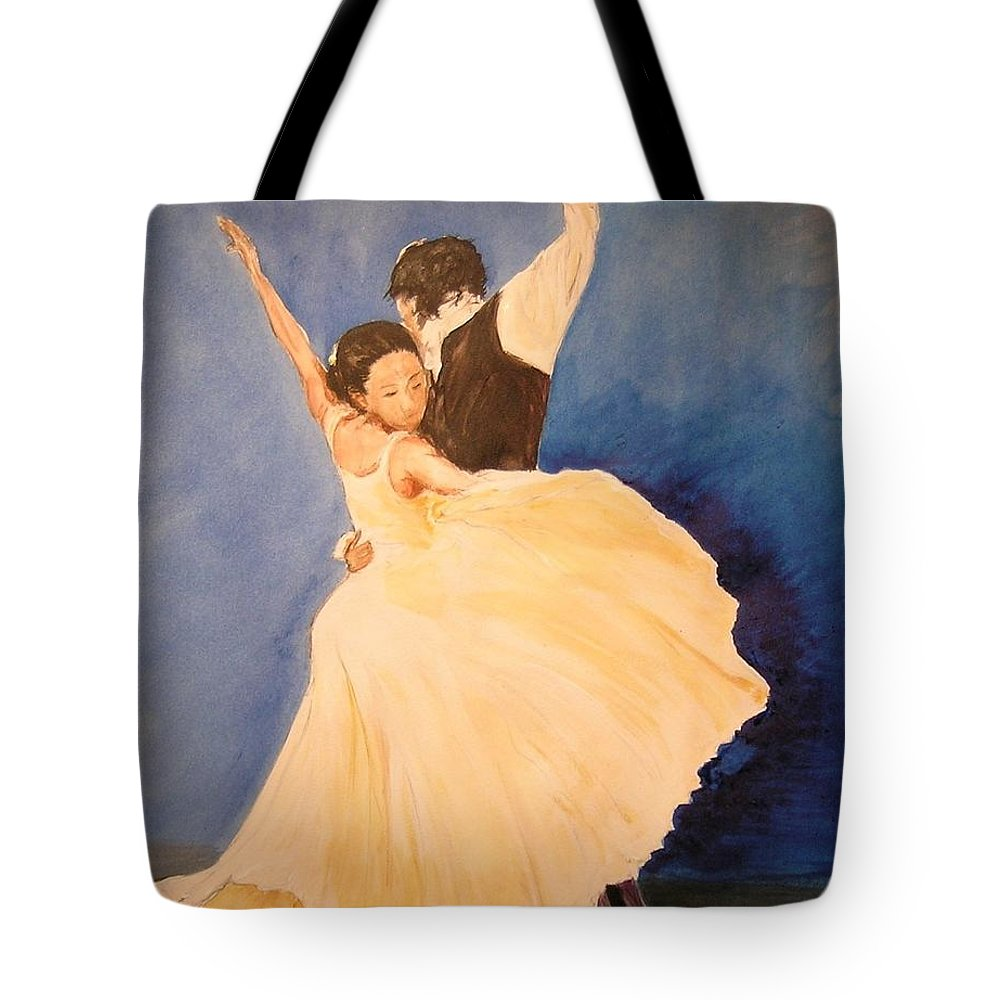 Spain Tote Bag featuring the painting Pasion Gitana by Lizzy Forrester