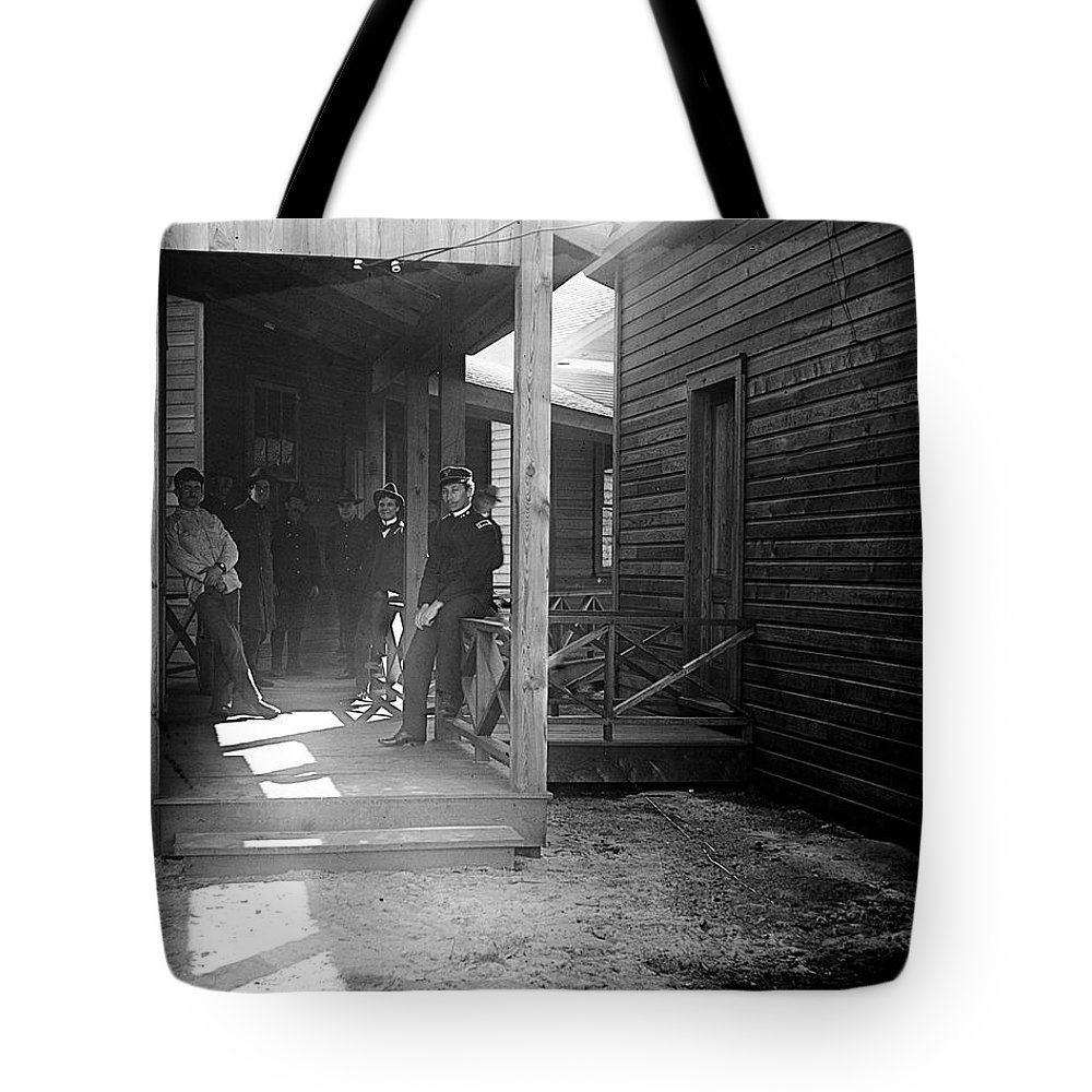 Passageway first division hospital augusta ga tote bag for Background image of div