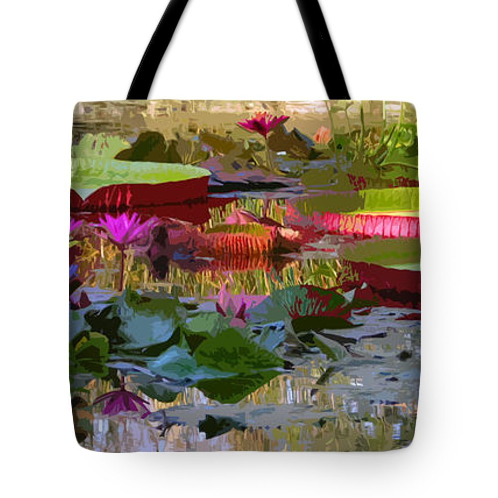 Water Lilies Tote Bag featuring the photograph Passion for Beauty by John Lautermilch