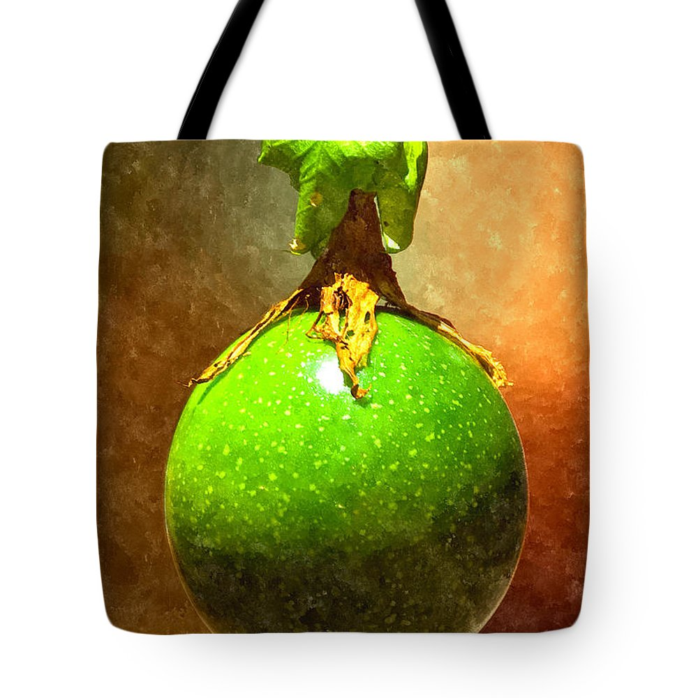 Passion Fruit Tote Bag featuring the digital art Great Passion Fruit by Max Steinwald