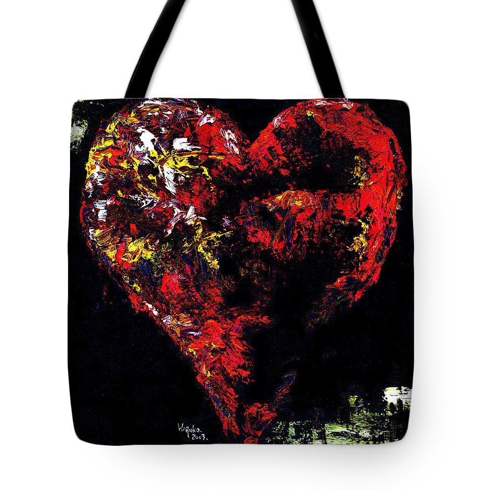 Heart Tote Bag featuring the painting Passion by Hiroko Sakai