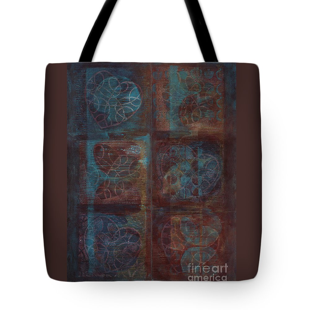 Australia Tote Bag featuring the painting Passion Play - Six Of Hearts by Kerryn Madsen - Pietsch