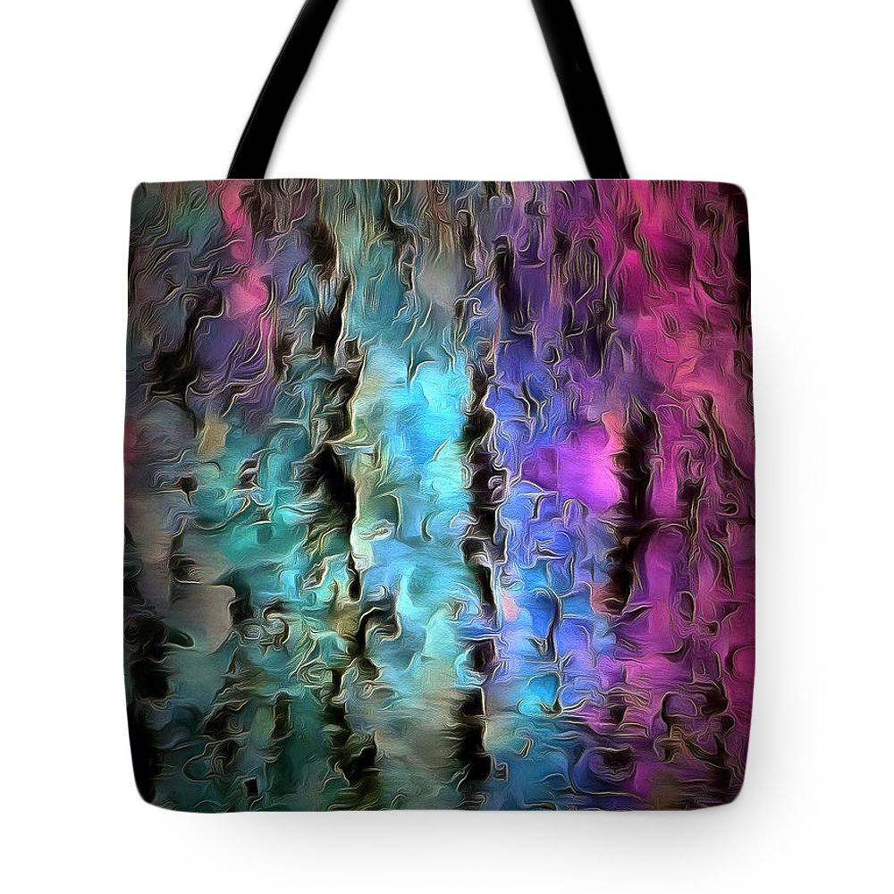 Abstract Tote Bag featuring the photograph Passion Spell by Krissy Katsimbras