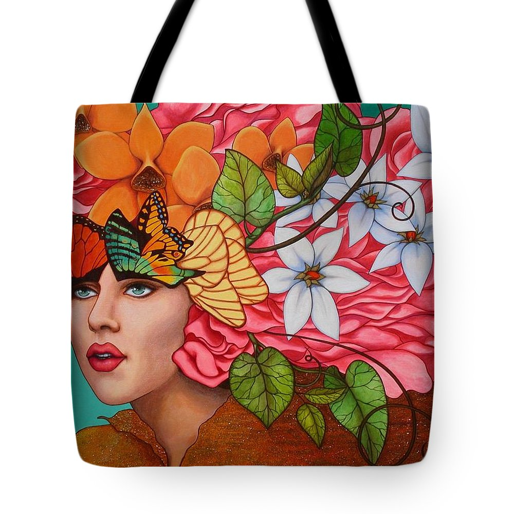Woman Tote Bag featuring the painting Passionate Pursuit by Helena Rose