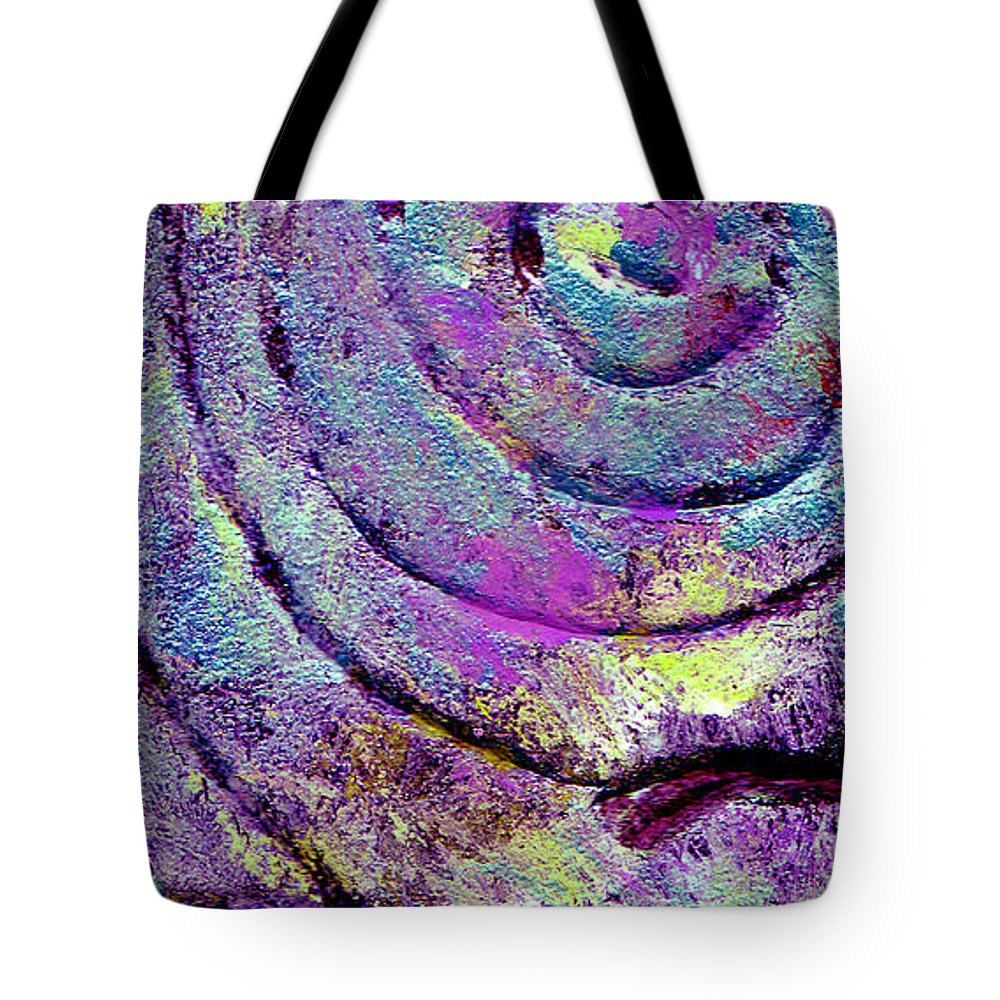 Abstract Tote Bag featuring the painting Passionate Swirl by Wayne Potrafka