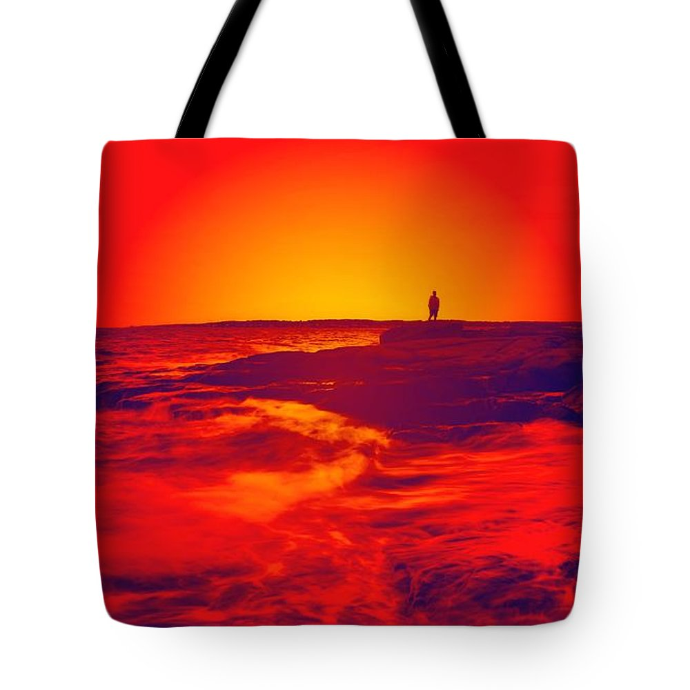Sun Rise Tote Bag featuring the photograph Passion's Envy by Chet B Simpson