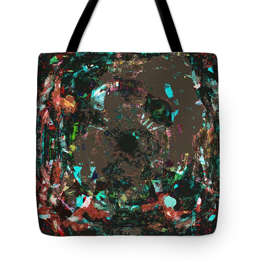Abstract Tote Bag featuring the digital art Passo by Blind Ape Art
