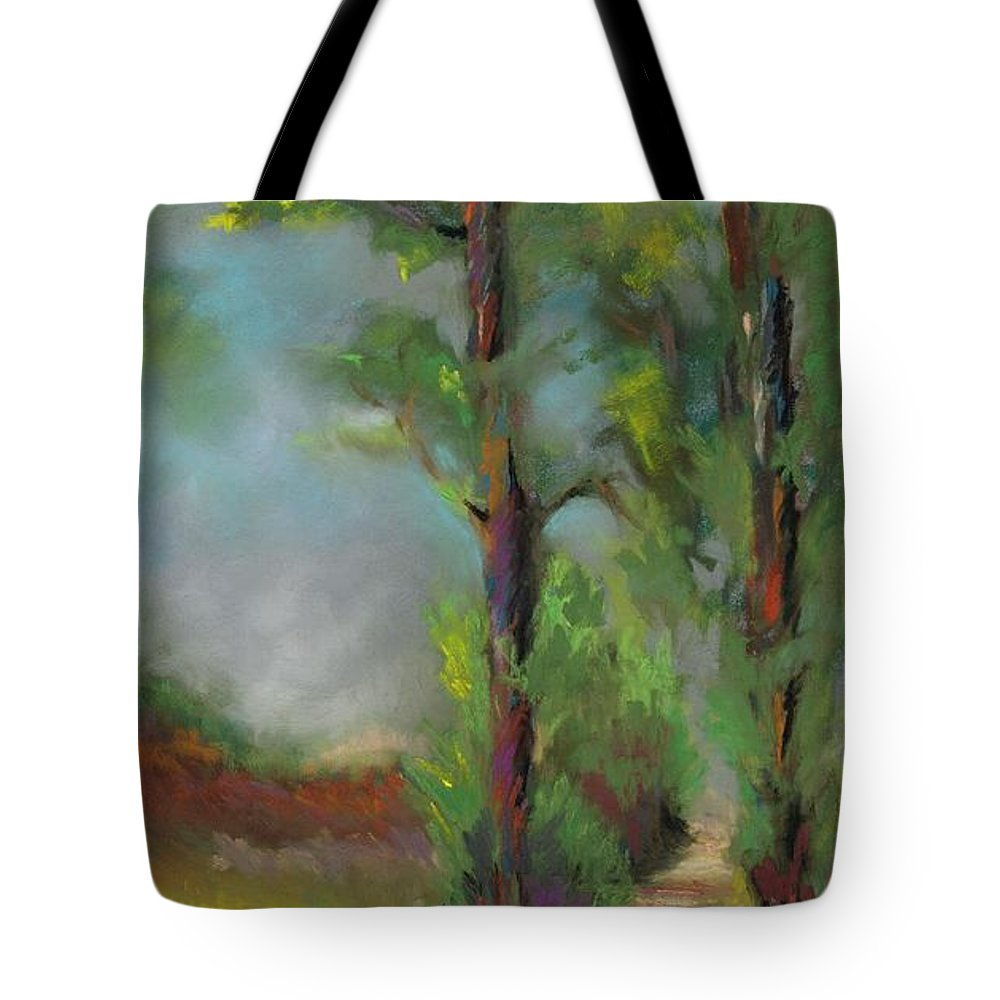 Horses Tote Bag featuring the painting Past Friends by Frances Marino