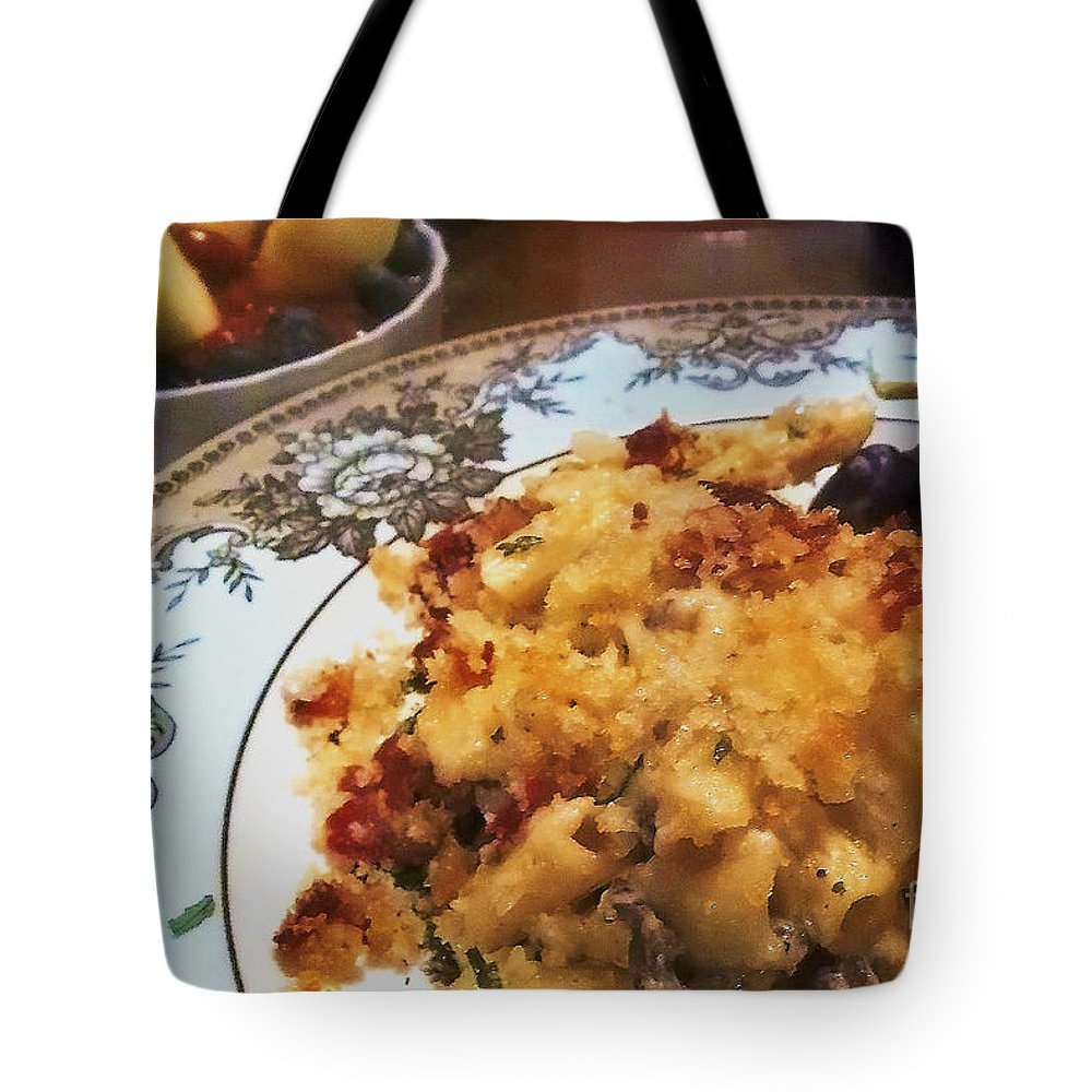 China Tote Bag featuring the photograph Pasta And Fruit by Laura Birr Brown