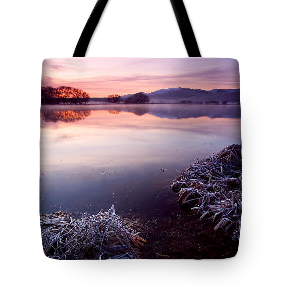 Lake Tote Bag featuring the photograph Pastel Dawn by Mike Dawson