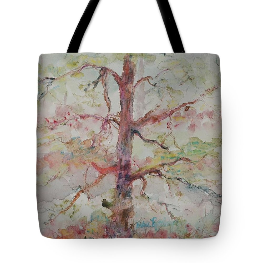 Forest Tote Bag featuring the painting Pastel Forest by Nadine Rippelmeyer