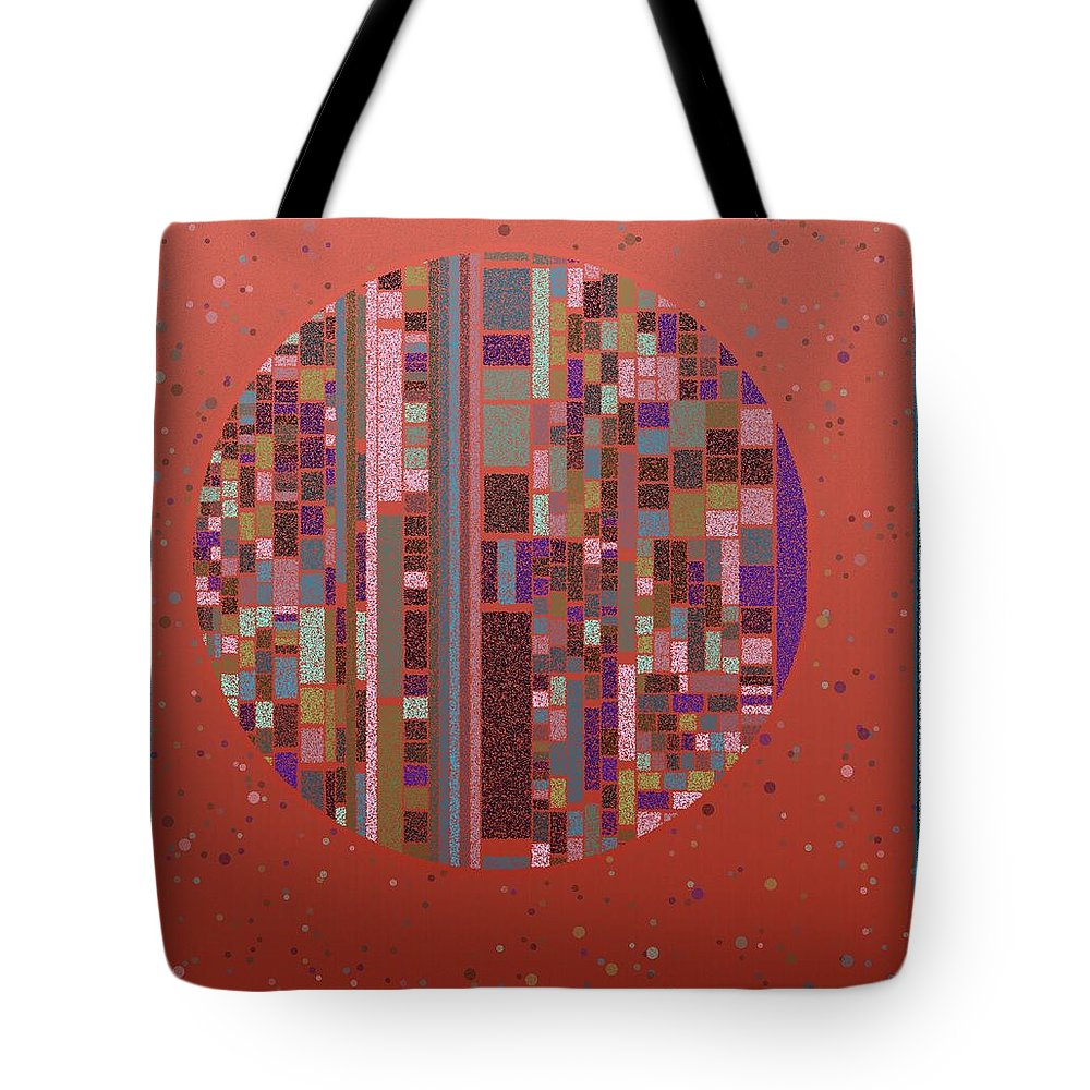 Abstract Tote Bag featuring the digital art Pastel Globe 8-21-2015 #1 by Steven Harry Markowitz