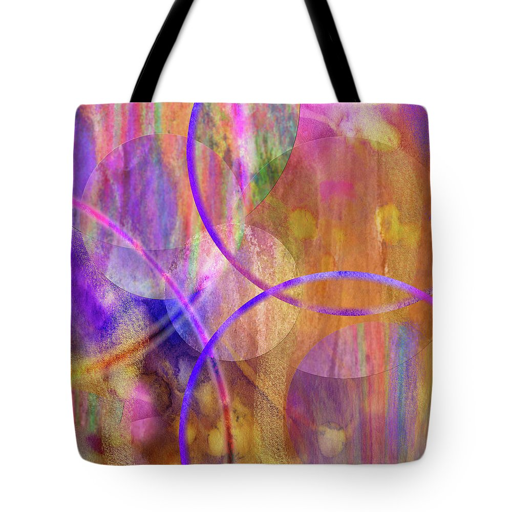 Pastel Planets Tote Bag featuring the digital art Pastel Planets by John Beck
