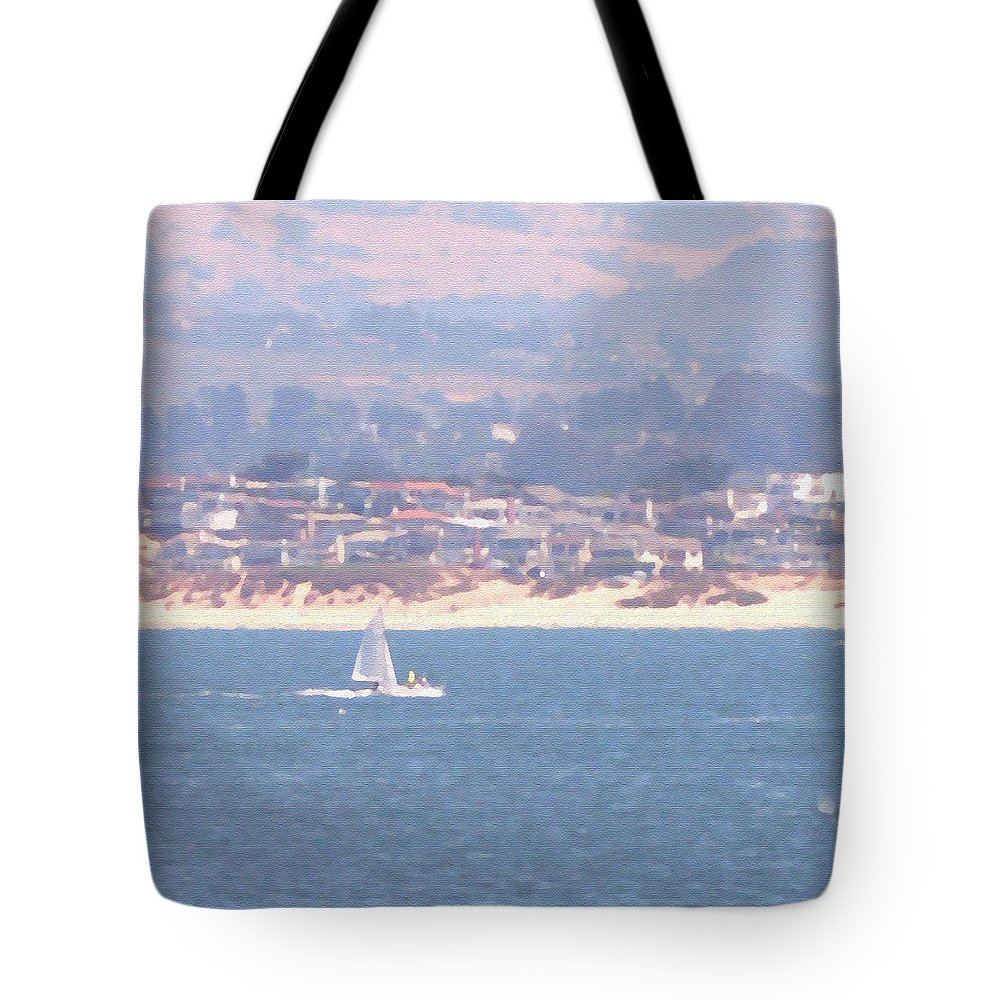 Sailing Tote Bag featuring the photograph Pastel Sail by Pharris Art